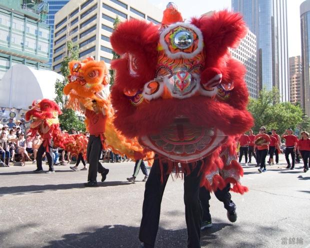 jing wo lion dance calgary 2017 chinese stampede parade