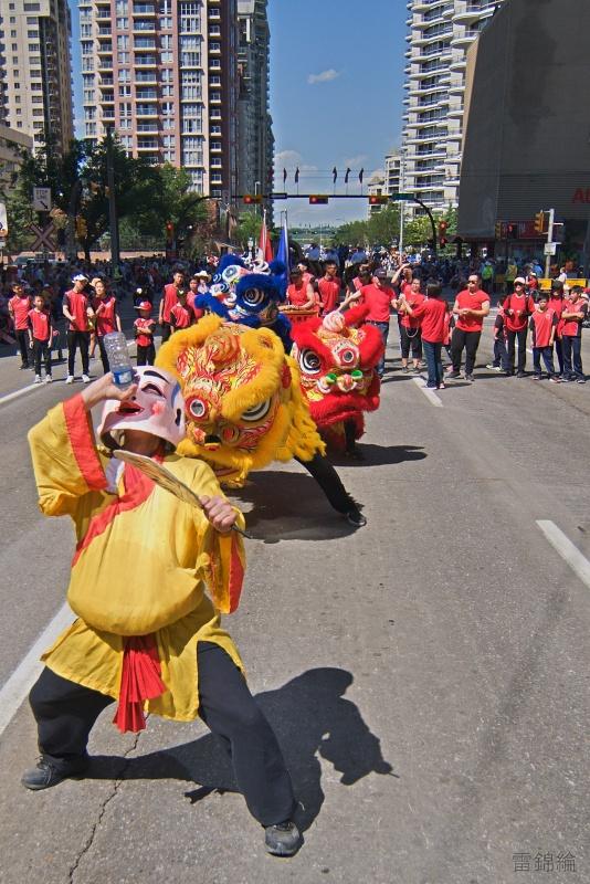jing wo lion dance calgary 2018 chinese stampede parade